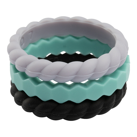 Women's Stackable Silicon Ring Set  - view 1