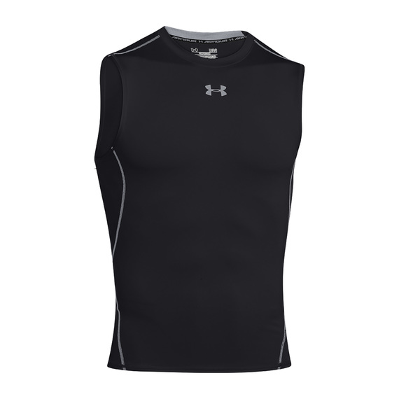 Men's HeatGear Armour Compression Sleeveless Tee  - view 1