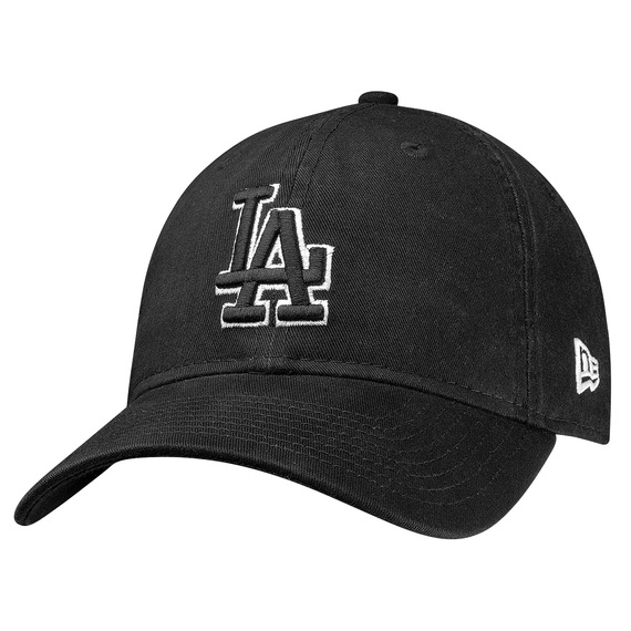 Los Angeles Dodgers Black and White Core Classic 9Twenty Adjustable Cap
