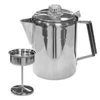 Stansport 9-Cup Stainless Steel Coffee Pot