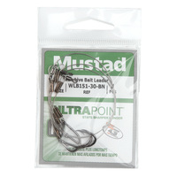 Mustad UltraPoint 30 lb. Wire Live Bait Leader - Size 2