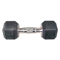 WEIDER 10 lb. Rubber Hex Dumbbell