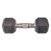 WEIDER 25 lb. Rubber Hex Dumbbell