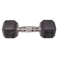 WEIDER 30 lb. Rubber Hex Dumbbell