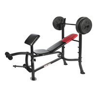 WEIDER Pro 265 Standard Weight Bench with 80-lb. Weight Set