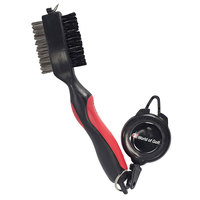 JEF World of Golf Club Brush with Retractable Cord