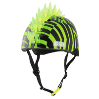 KRASH Dazzle Green Mohawk LED Lighted Youth Helmet
