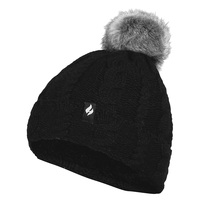 Heat Holders Women's Cable Knit Roll Pom Beanie