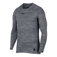 Nike Men's Heather Fitted Long-Sleeve Pro Top