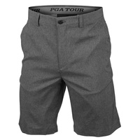 PGA TOUR Men's Heather Flat Front Golf Shorts with Active Waistband