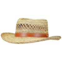 Dorfman Men's Gambler Straw Hat