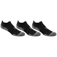 POWERSOX Men's Apex Pro Double Tab No-Show Socks - 3-Pack