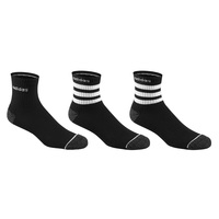 adidas Men's 3-Stripe Quarter Crew Socks - 3-Pack