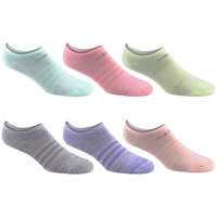 adidas Girls' Superlite No Show Socks - 6-Pack