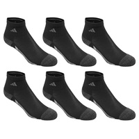 adidas Youth's Vertical Stripe Quarter Socks - 6-Pack