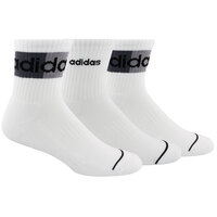adidas Men's Blocked High Quarter Socks - 3-Pack