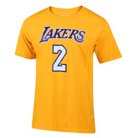 adidas Los Angeles Lakers Men's Lonzo Ball Name and Number Tee