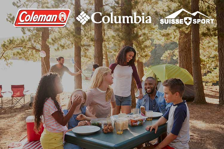 Camping & Hiking Gear Sale - family eating together
