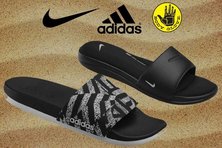 Sandals, Slides & Water Shoes Sale - adidas and all black slides