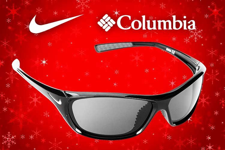 Sunglasses Sales - Picture of sunglasses on Christmas background