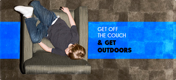 Get Off the Couch and Get Outdoors - aerial shot of a young boy sleeping a padded chair